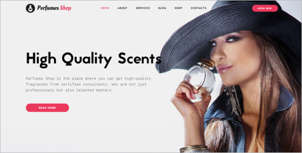 Cosmetics Store Responsive Website Template