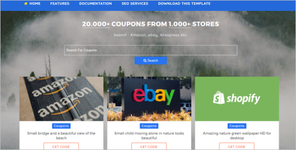 Coupon Blog Template
