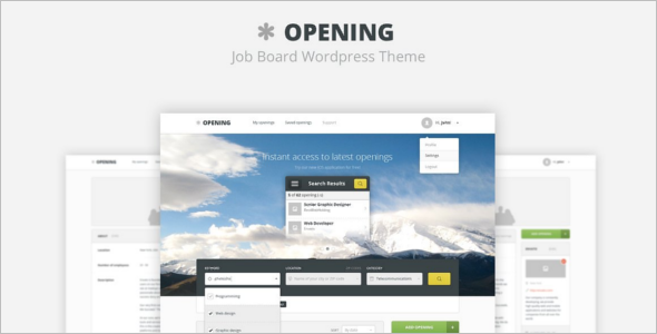 Creative HTML Job Portal Template