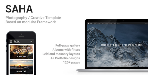 Creative Photography Website HTML Template