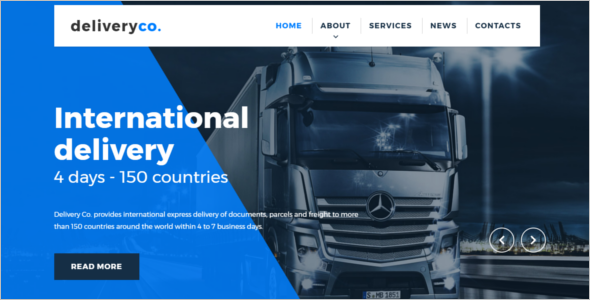 Customizable Delivery Services Template