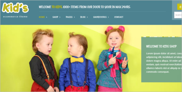 Customize Kids WordPress Template