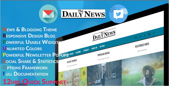 Daily News Blog Theme