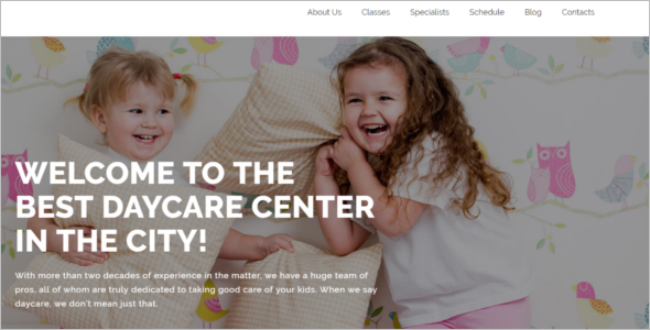 Day Care WordPress Theme