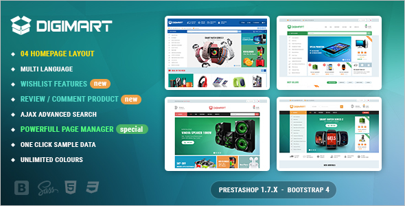 Digital PrestaShop 1.7 Theme