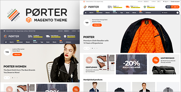 E-Commerce Magento Website Theme
