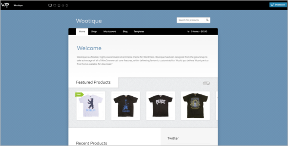 E-commerce WooCommerce Theme