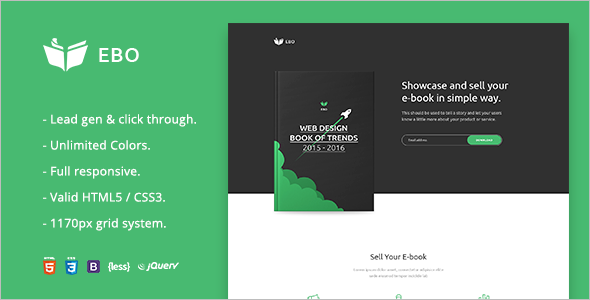Ebook Landing Page HTML Template