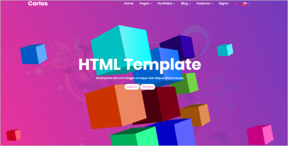 Ecommerce HTML Website Template