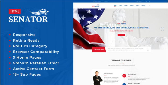 Election Campaign HTML Template