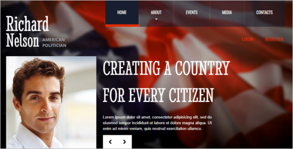 Election Nomination HTML Template