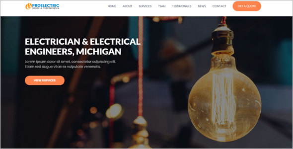 Electrician HTML Website Theme