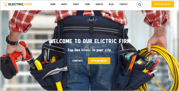 Electricity Services Website Template