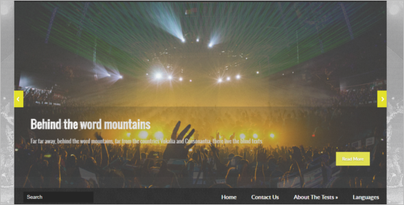 Entertainment Free WordPress Theme