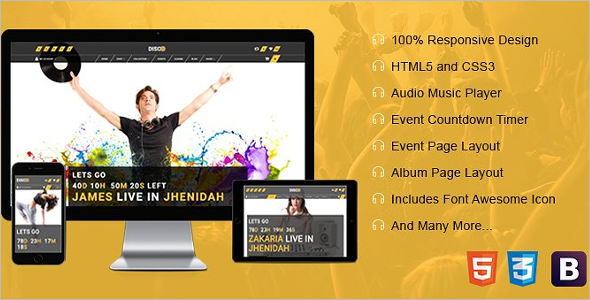 Entertainment HTML Template