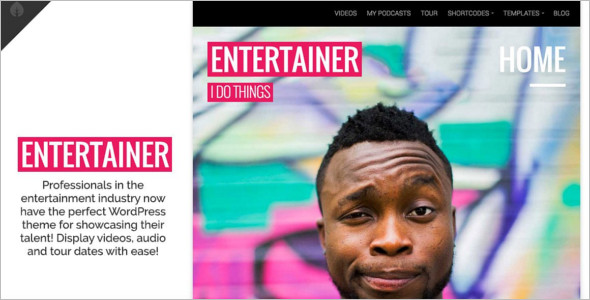 Entertainment Portal WordPress Theme