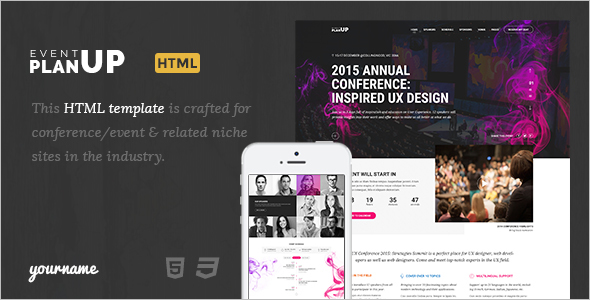 Event HTML Template