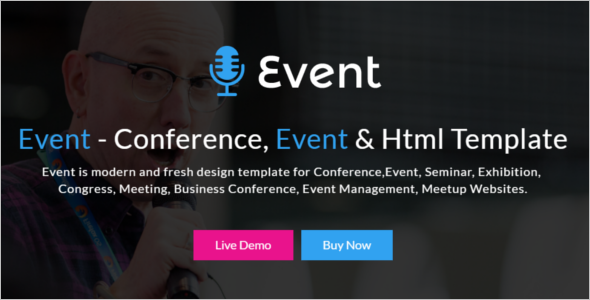 Event HTML Website Template