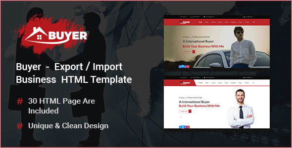 Export Company HTML Template