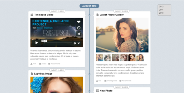 Facebook Style WordPress Design Template