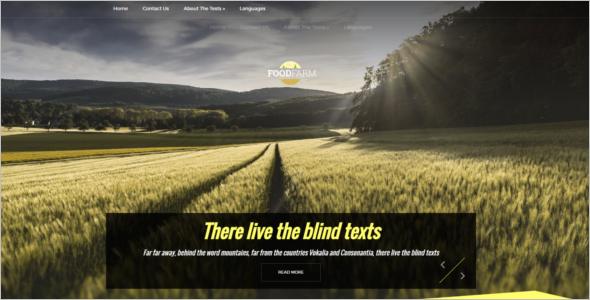 Farm Free WordPress Theme