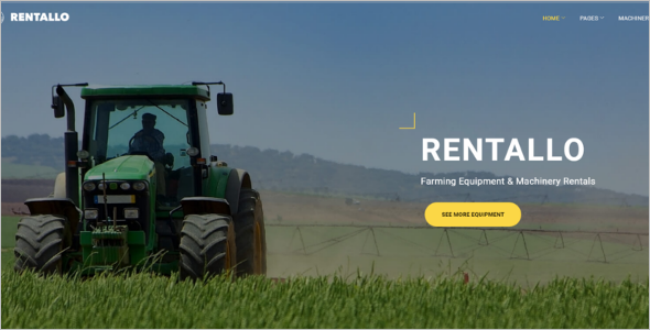 Farming Equipment WordPress Theme