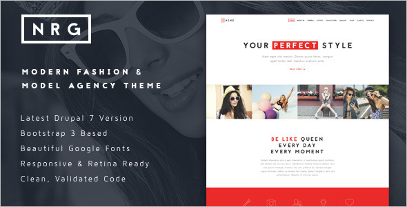 Fashion Agency Drupal Theme