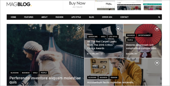 Fashion Blog Responsive Drupal Theme