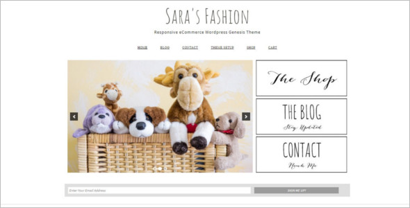 Fashion E-commerce WordPress Theme