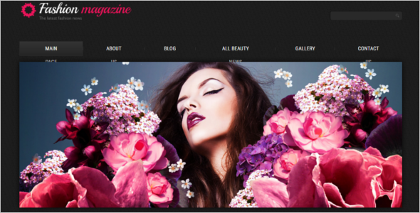 Fashion Magazine Blog Template