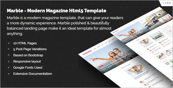 Fashion Magazine Bootstrap Template