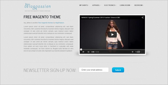 Fashion Shop Free Magento Theme