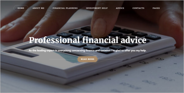 Financial Adviser Bootstrap Website Template