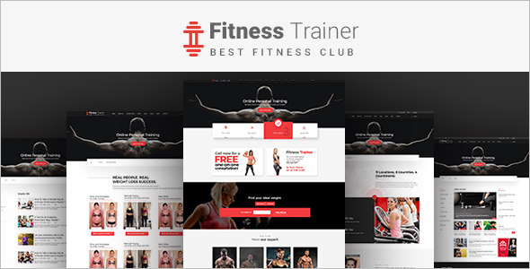 Fitness Bootstrap Template