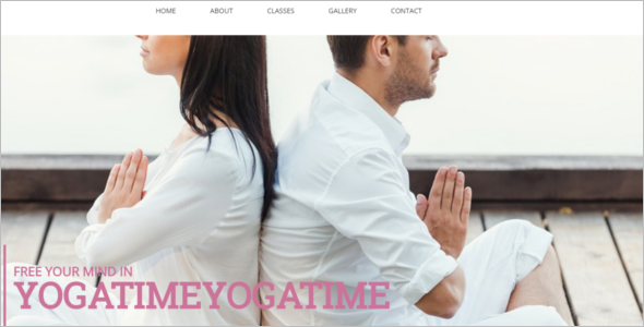 Fitness Yoga WordPress Theme