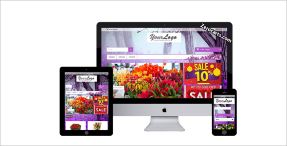 Flowers Prestashop Template