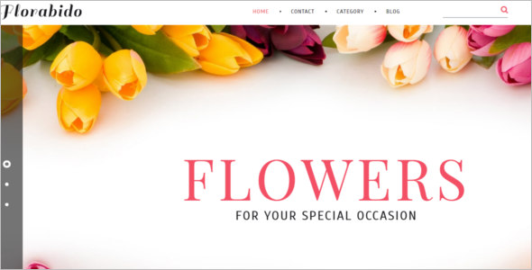 Flowers Shop Bootstrap Template