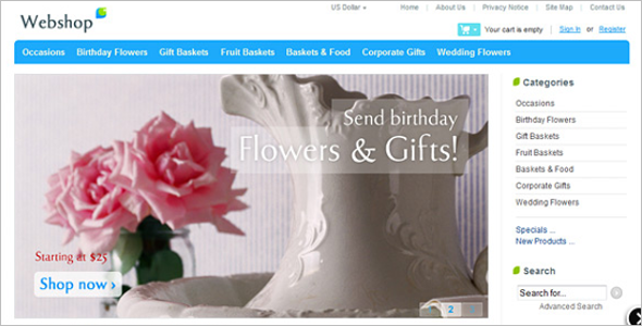 Flowers Zen Cart Theme