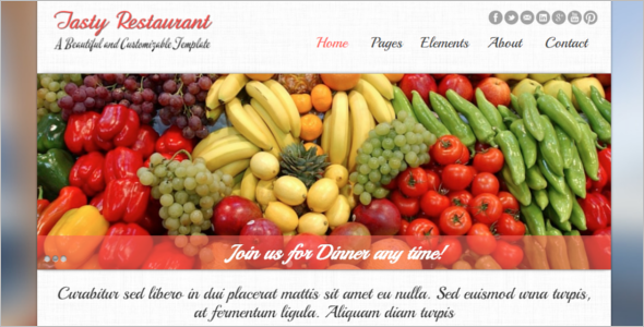 Food Website Template
