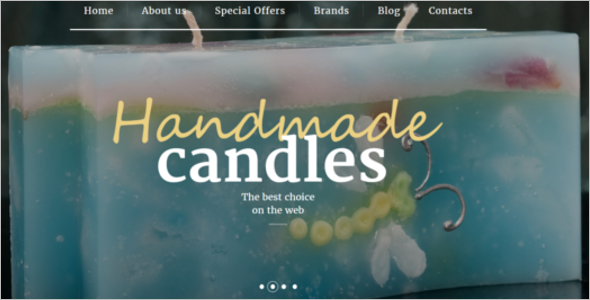 Free Handmade Candles OpenCart Theme