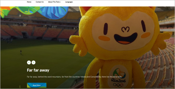 Free Olympic Game WordPress Theme