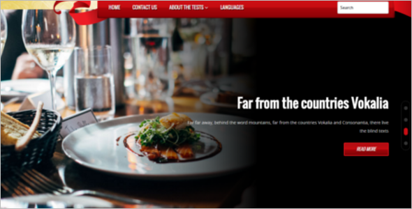 Restaurant Business WordPress Theme