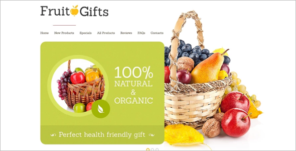 Fruits Shop ZenCart Theme