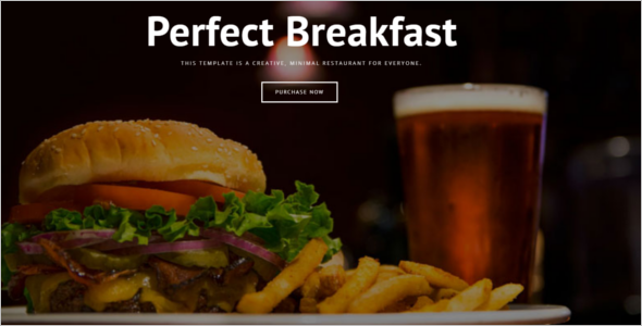 Fully Responsive HTML Restaurant Website Template
