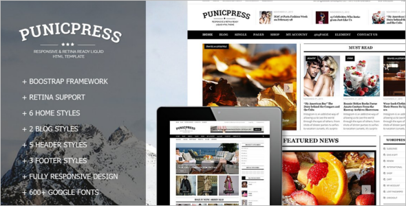 Fully Responsive News HTML5 & CSS3 Template