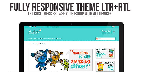Fully Responsive Opencart Template