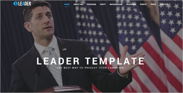 Fully Responsive Political Campaign HTML Template