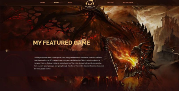 Gaming Blogger Template