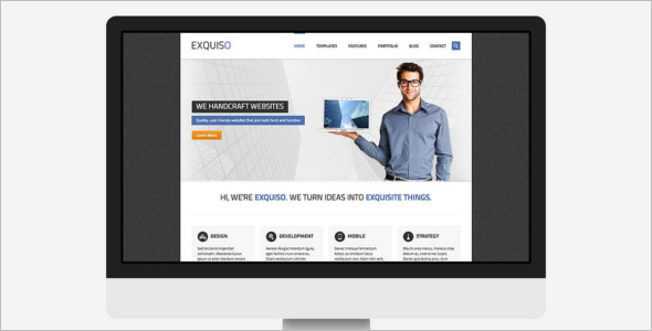 HTML Business Object Template