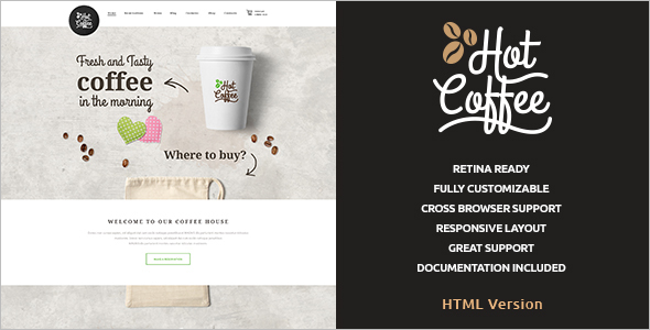 HTML Cafe & Restaurant Template
